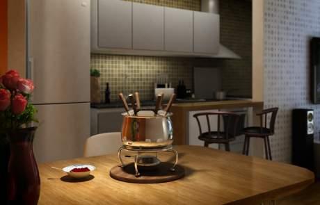 Cozinha em 3D para Empreendimento